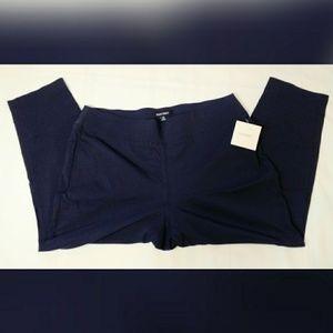 Ellen Tracy Navy Blue Stretch Pants